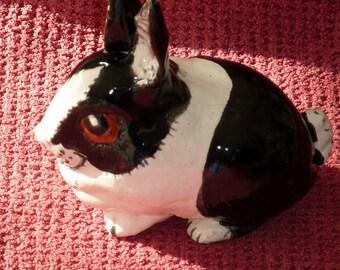 Sweet Lucky Dutch Rabbit Sculpture one of a kind sold by Artist.
