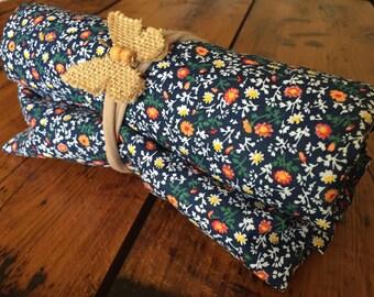 Floral Baby Sheet | Handmade Fitted Crib Sheet | Baby Bedding | Flower Girl Bed Sheet | Nursery | Infant Gift | Baby shower
