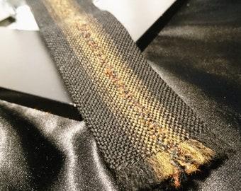 Vintage gents skinny tie, pure wool, striped vintage neck ties, Vardoc Oxford