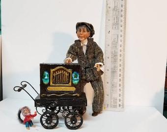 ooak 1/12 scale art doll organgrinder