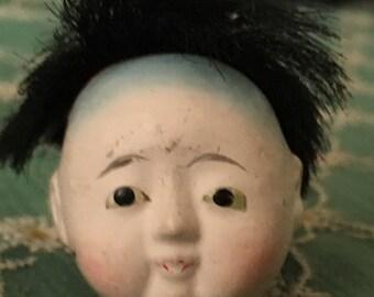 Antique Japanese doll head