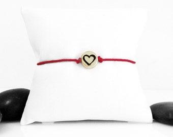 Heart Bracelet, Gift For Her, Charm Bracelet, Heart Jewelry, Love Bracelet, Girlfriend Gift, Birthday Gift, Friendship Bracelet