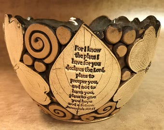 Large Scripture Dogwood Bowl 130