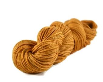 Worsted Yarn, Superwash Merino yarn, worsted weight yarn, wool yarn, 100% Superwash Merino, yellow, gold, worsted merino - Sunflower