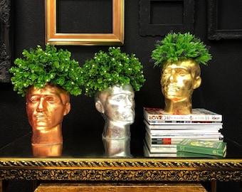 Mannequin head floral display