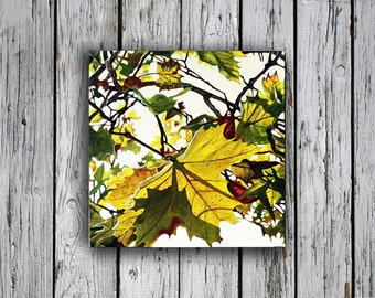 Autumn Painting, fall art, home decor, Fall Leaves, Autumn Art, wedding gift, Colorful Leaves, Autumn Leaves, Paintings of Autumn