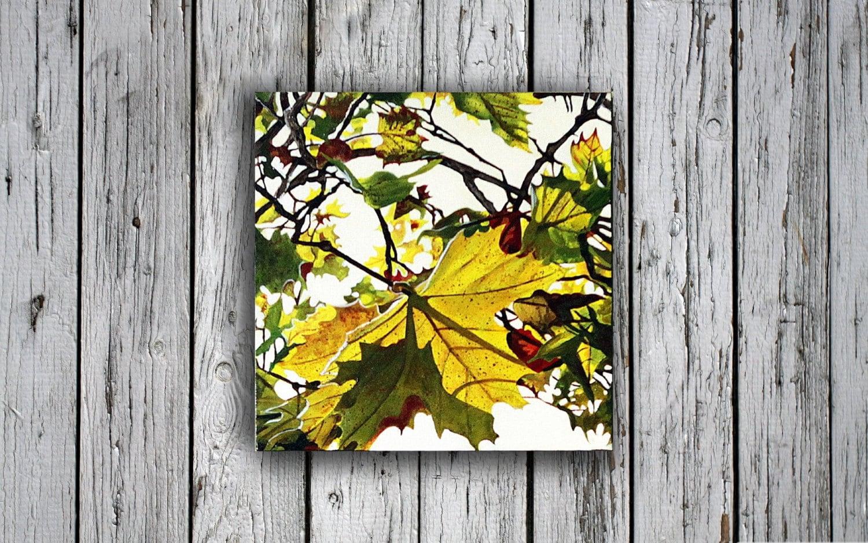 Autumn Painting fall art home decor Fall Leaves Autumn