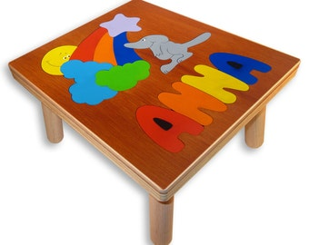 NAME PUZZLE STOOL | Mouses Rainbow
