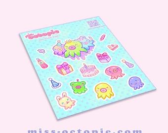 OctoParty Sticker Sheet