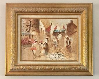 Original Boris Chezar Sand and Oil Painting