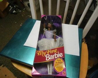 Vintage 1993 My First Barbie Doll still sealed by Mattel corp, collectable