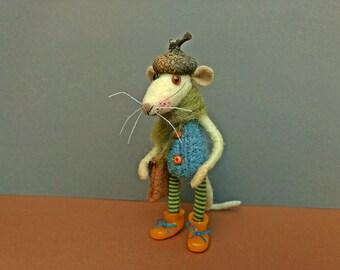 Felt Mouse , Felt Animal , Art Doll , Miniature Animal , Cute Mouse , Felted Mouse , Eco Friendly , Miniature Mouse , Mouse Doll