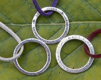 Mantra Necklace Reversible ॐ Ganesha ॐ Shiva ॐ Lokah Samastah - Sterling Silver / Brass in Sanskrit *handmade with love* yoga jewellery