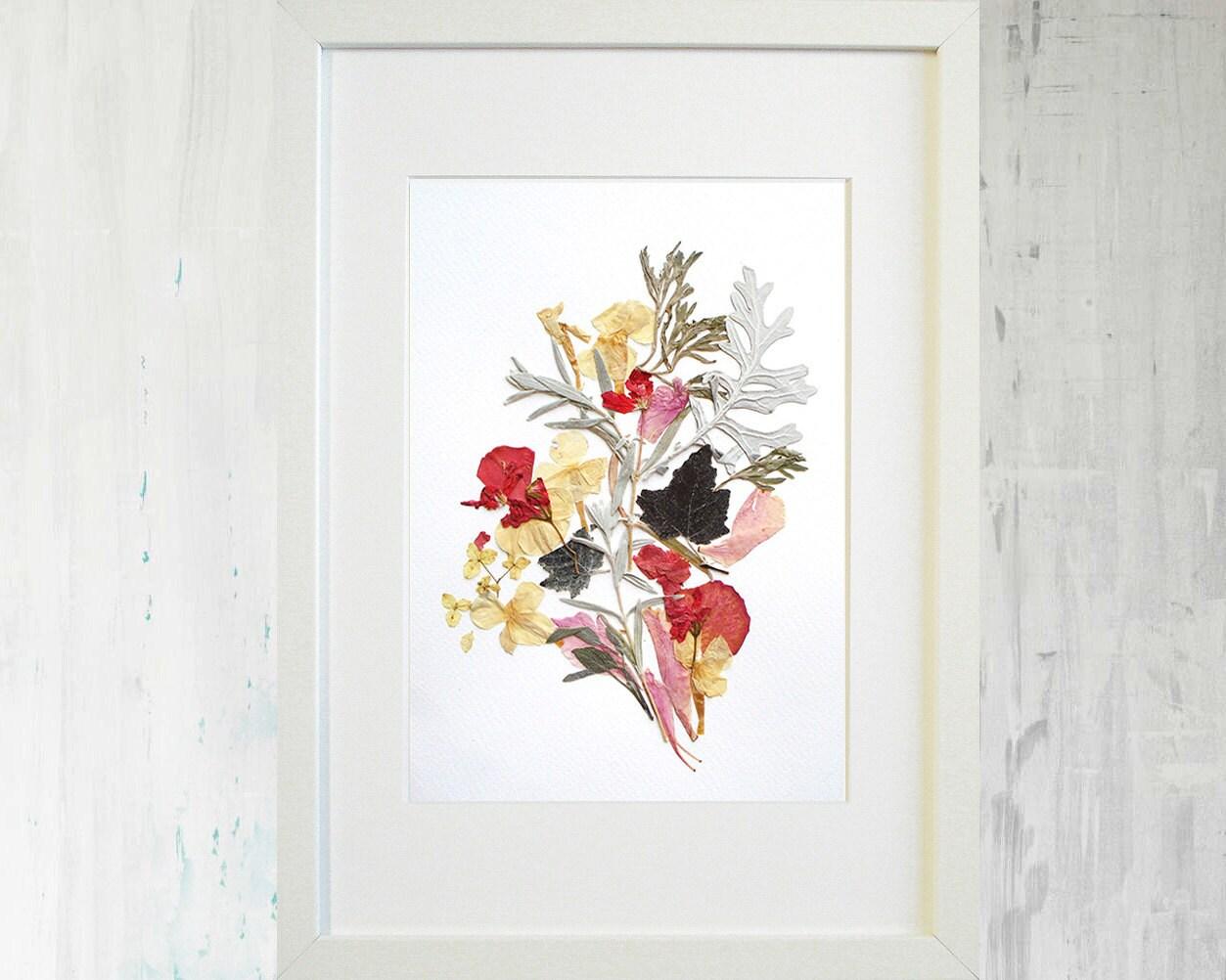 Blume Druck botanischen Druck gepresste Blume Art getrocknete
