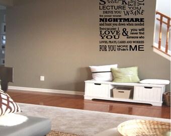 A Parent's Promise Wall Decal Vinyl Decals Wall Decor Wall Art