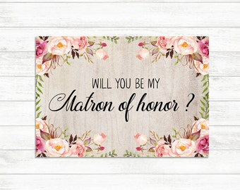 Will You Be My Bridesmaid Maid of Honor Matron of Honor Set