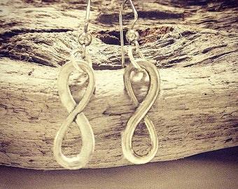 Sterling Silver Infinity Earrings
