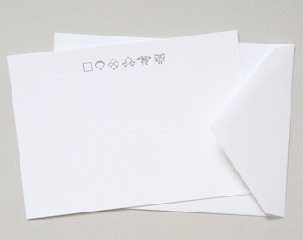 Origami Bow Luxe Letterpress Notecard   Origami Collection   Howl Paper Studio