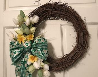 St. Patricks Day wreath, St. Patricks Day decor