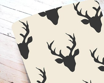 Black Buck- Fitted Crib Sheet-STANDARD 100% Cotton ONLY
