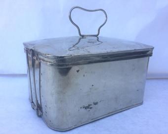 1920 Antique Chrome Lunch Box