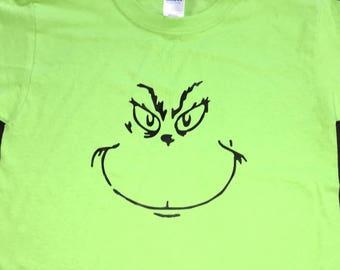 Grinch themed shirt