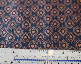 Chieveley by Lewis & Irene A241 in Navy Blue, Orange or Cream patchwork Quilting 100% Cotton