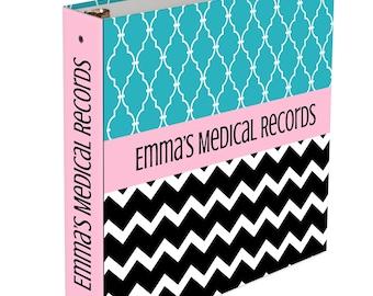 Custom Baby Memory Book - 3 ring binder - Baby Book Boy Girl Baby Kindergarten Memory book Artwork Binder Baby Shower Gift Medical records