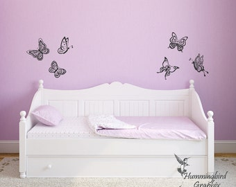 Wall Decal, Butterfly Wall Decals, Butterfly Stickers, Nursery Wall Decal, Child's Room Decal, Bedroom Decal, Bedroom Art, Graphics