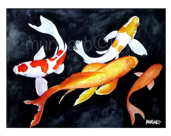 Koi no. 1 watercolor print by Marley Ungaro