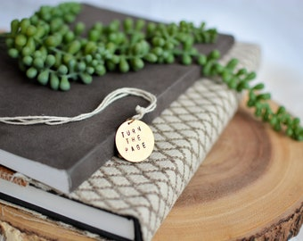 Personalized Bookmark, Hand-Stamped Metal Bookmark, Page Marker with Quote, Book Accessories