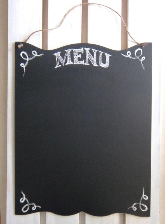Scheda di gesso cucina rustico segno ampio Menu di lavagna in