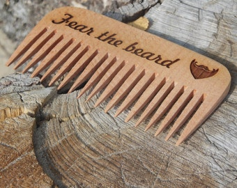 Engraved gift Wooden comb personalized beard comb Custom gift for men Valentine gift Birthday gift for him Unique mens gift Hair wood comb