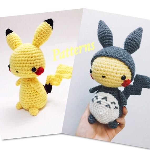 Kawaii Pikachu Pokemon Amigurumi & Pikachu in Totoro Suit Amigurumi ...