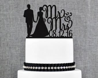 Mr and Mrs Cake Topper Wedding Cake Decorations Wedding Cake Bridal Gift Custom Cake Topper Acrylic Cake Topper Wedding Gift Bridal - (T230)