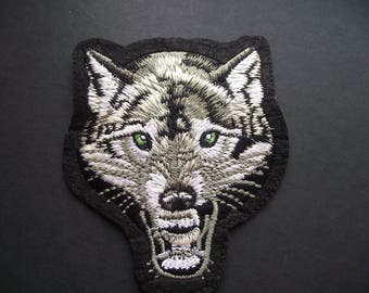 WOLVERINE PATCH,GROWLING Wolf Applique,Sewing Notion,Patches and Appliques,Wolf,Wildlife,K9,Iron On, Sew On Patch,Embroidered Patch Applique