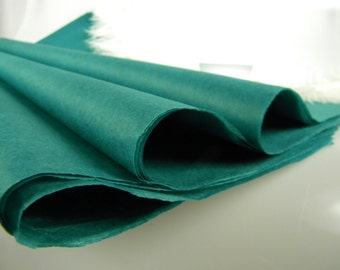 """Tissue Paper -Teal 24 Sheets - Wedding Gift Wrap Idea - Craft Supplies - Decorative Packaging - DIY Pom Pom Supplies - 20"""" X 30"""" -"""