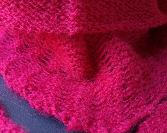 Pure wool slightly fulled scarf