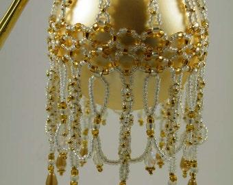 Beading Tutorial -  White Gilt Ornament