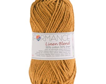 10 x 50g knitted yarn linen blend, #190 yellow