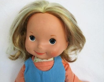 "Spring SALE 30% OFF Vintage 1977 My Friend Mandy Doll with Blonde Hair by Fisher Price 16"" doll 211"