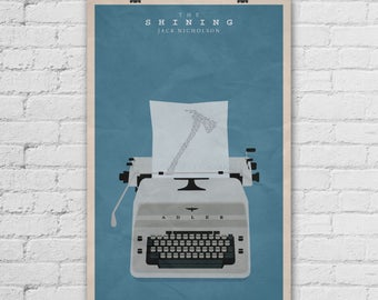 The Shining Poster. Stanley Kubrick Poster. Jack Nicholson Poster. Movie Art Print. Pop Culture and Modern Home Decor Poster. Item No. 294