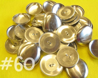100 Covered Buttons - 1 1/2 inches - Size 60 wire backs/loop backs covered buttons notion supplies diy refill