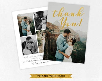 Wedding Thank you Card Template for Photographers, Wedding Photography - Photoshop Templates - Wedding Thank you Card - TK015