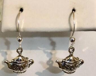 Sterling Silver Teapot Earrings