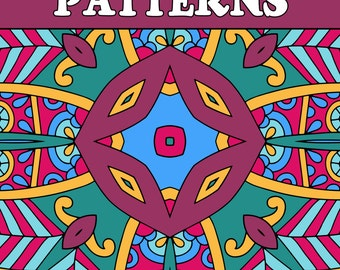 25 PATTERNS COLORING Pages Adult Coloring Book; Mindfulness Meditation, Relaxation; Geometric Quilt Patterns; Printable PDF Instant Download