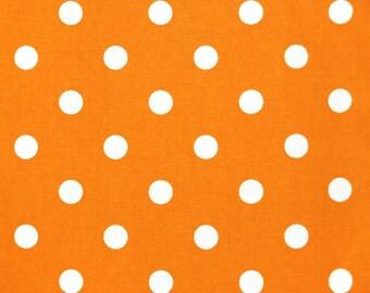 Premier Prints Polka Dot in Orange White 7 oz Cotton Home Decor fabric, 1 yard
