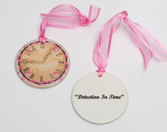 Porcelain Ornament - Detection In Time: Breast Cancer Awareness
