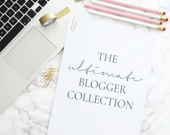 The Ultimate Blogger Collection - Instant Download - Printable A4 Desk Templates