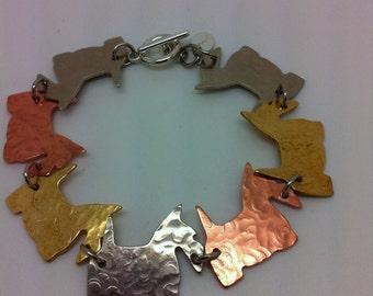 """7 1/2"""" Scottish Terrier Scottie Dog Bracelet"""
